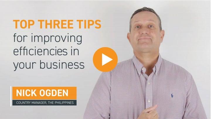 Top 3 tips for improving efficiencies
