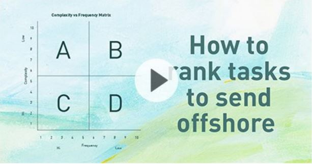 How to rank tasks to send offshore